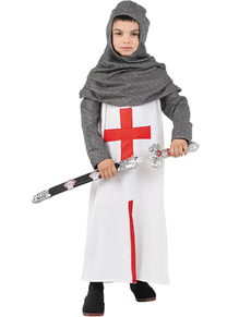 Middeleeuwse kruisvaarder kostuum voor jongens