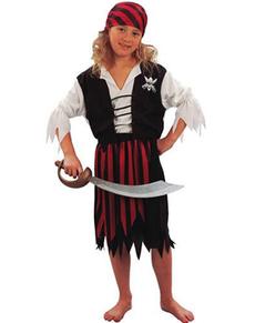 Grote piraat kostuum voor meisjes