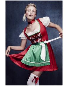 Kostuum kerst dirndl Fever voor vrouwen