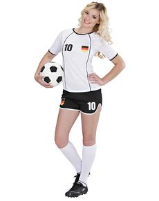 Duitse voetballer kostuum voor vrouwen