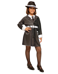 Elegante gangster kostuum voor meisjes