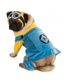 Kostuum Minion voor honden grote maat