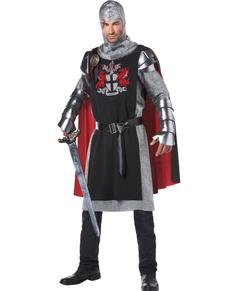 Kostuum dappere middleeuwse ridder voor mannen