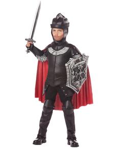 Kostuum zwarte ridder voor jongens