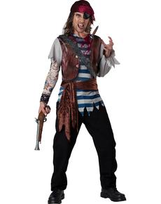 Kostuum gewonde piraat voor mannen