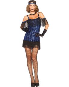 Verleidelijk cabaret kostuum voor vrouwen